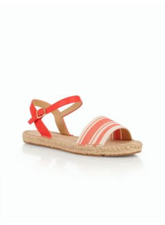 Ivy Ankle-Strap Sandals - Variegated Stripe