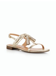 Lamar Tassel Sandals-Metallic