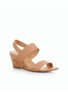 Royce Slingback Cork Wedges - Pebble Leather