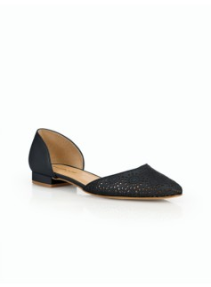 Edison Vachetta Leather Perforated D'Orsay Flats