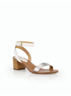 Mimi Bamboo-Heel Sandals -  Mixed Media