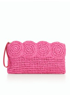 Crochet Paper Straw Clutch