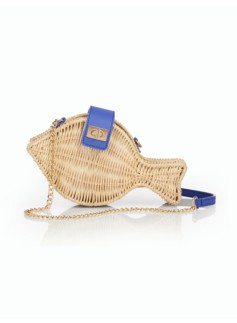 Wicker Fish Shoulder Bag