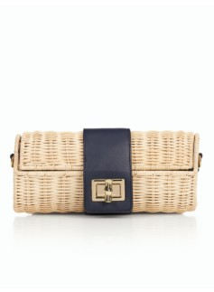Wicker & Leather Baguette