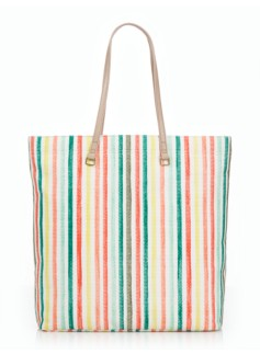 Watercolor Stripes Tote