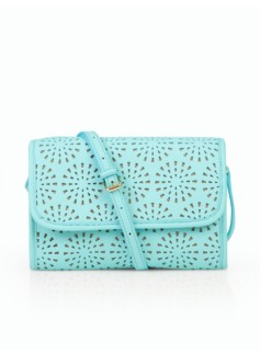 Perforated Leather Crossbody Bag