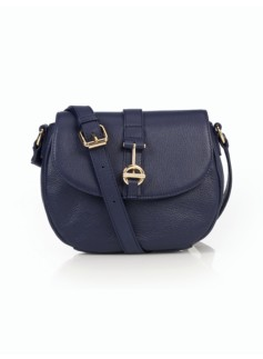 Pebbled Leather Toggle Crossbody