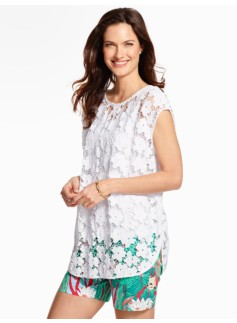 Flower Lace Poncho