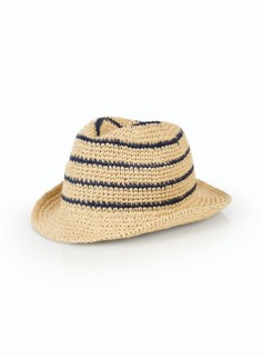Crushable Stripe Fedora