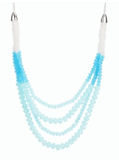 Colorblocked Bead Necklace