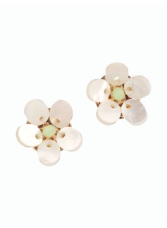 Mother-Of-Pearl Flower Earrings