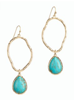 Hoop & Teardrop Earrings
