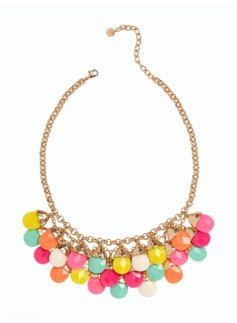Faceted Bead-Drop Necklace