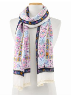 Flower Patchwork Scarf