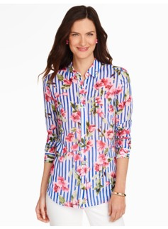 Flowers & Stripes Shirt