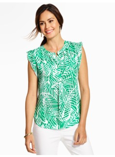Flutter-Sleeve Blouse - Fern