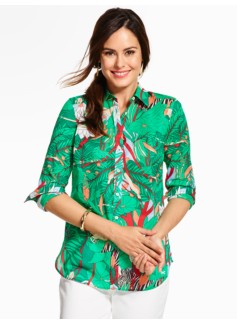 Summer-Light Cotton Shirt - Peaceful Jungle
