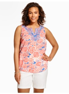 Embroidered Dotted Flowers Top
