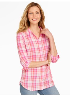 Cotton Gauze Shirt - Plaid