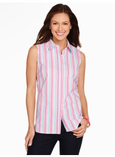 The Perfect Sleeveless Shirt - Multi-Stripes