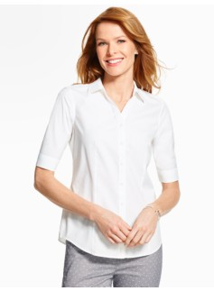 The Perfect Elbow-Sleeve Shirt