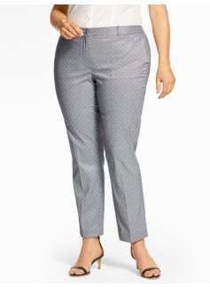 Summer Checks Tailored Ankle Pant