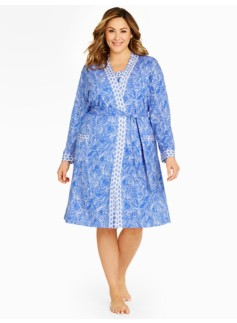 Overlapping Fern Knit Robe