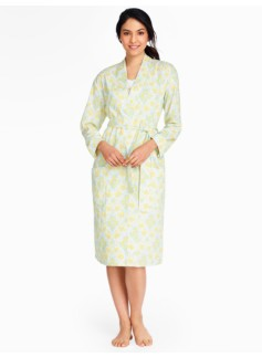 Damask Paisley Cotton Swiss Dot Robe