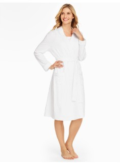 Cotton Eyelet Knit Robe