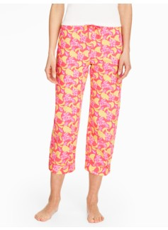 Banana & Leaves Cropped Pants