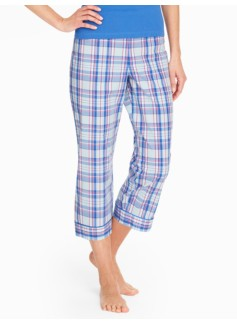 Harbor Plaid Cropped Sleep Pant