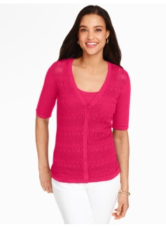 Kelly Cardigan - Geo Pointelle