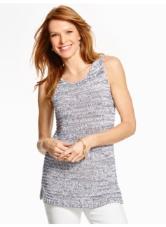 Sleeveless Marled Sweater Tank