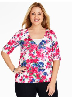 Kelly Cardigan - Flower Sprigs