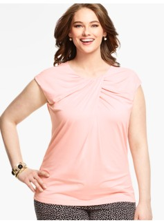 Ruched Crisscross-Front Top