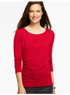 Ruched-Sides Top