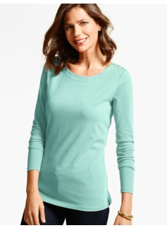 Heavyweight Long-Sleeve Knit Jersey Top