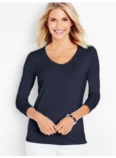 Platinum Jersey V-Neck Top