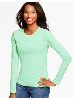 Pima Cotton Long-Sleeve Crewneck Tee - The Talbots Tee