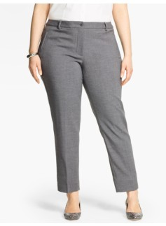 Talbots Hampshire Ankle Pant-Crepe-Shadow Heather