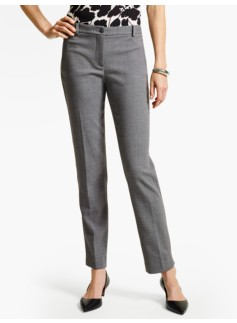 Talbots Hampshire Ankle Pant - Crepe-Shadow Heather