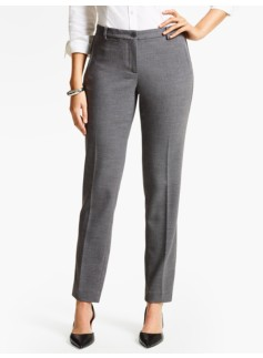 Talbots Hampshire Ankle Pant  - Curvy/Shadow Heather Crepe