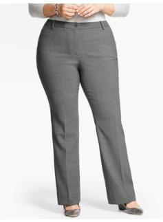 Talbots Raleigh Pant -  Double Crepe/Shadow Heather