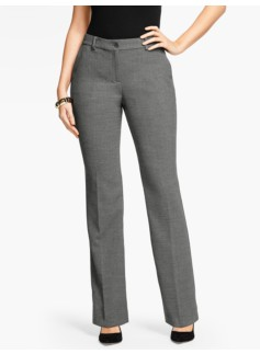 Talbots Raleigh Pant - Curvy/Double Crepe/Shadow Heather