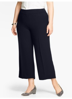 Refined Crepe Wide-Leg Crop