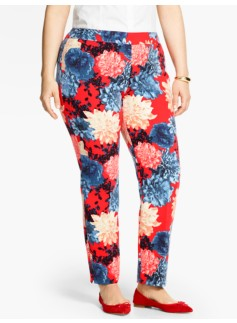Talbots Chatham Ankle Pant - Bold Dahlias