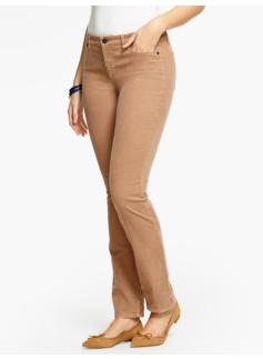 The Flawless Five-Pocket Cord Straight-Leg - Curvy