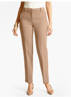 Talbots Hampshire Ankle Pant  - Curvy/Double Weave/Muted Acorn & Talbots Black