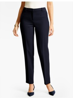 Talbots Hampshire Ankle Pant  - Curvy/Double Weave