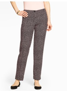 Talbots Hampshire Ankle Pant Curvy - Lynx-Print Double-Weave
